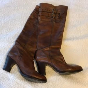 Frye knee-high heeled boots